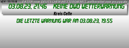 Grafik DWD Wetterwarnung